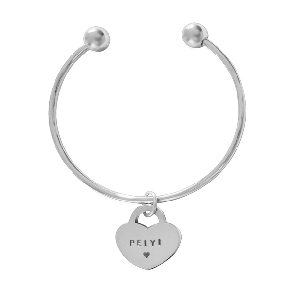Heart Pendant Bangle