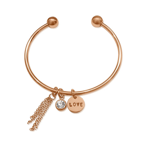 Birthstone Bangle with Tassel