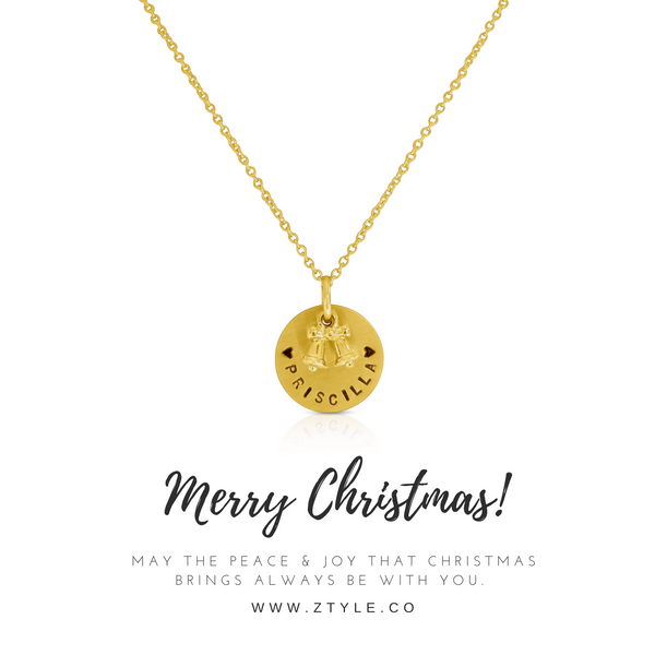 Xmas Bell Charm Necklace