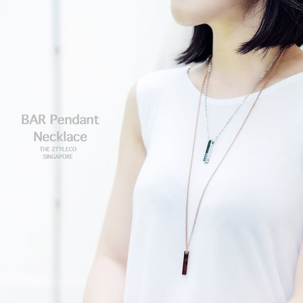 Bar Pendant Necklace / Keychain