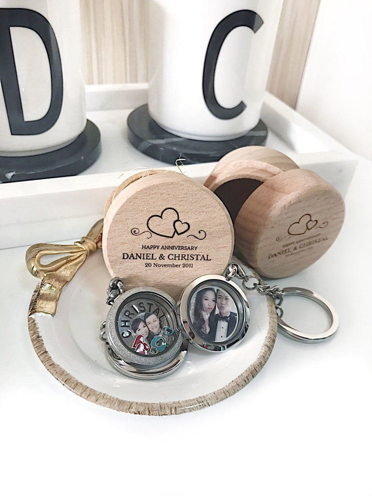 products ztyleco round keychain necklace y plain lockets set photo locket