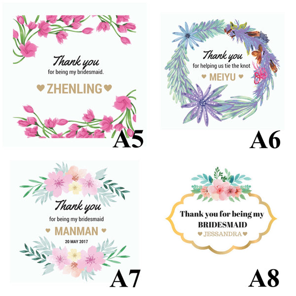 [Exclusive] 4 - 8 Bridesmaids Name Bangle Package