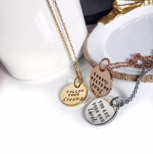 Personalise Quotes Necklace