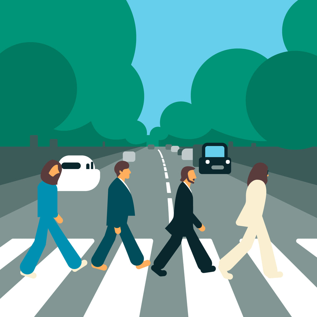 "The Beatles 'Abbey Road'  12"" print"