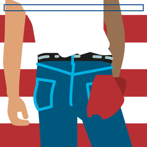 "Bruce Springsteen 'Born in the USA'  12"" print"