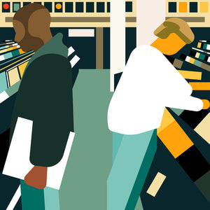"DJ Shadow 'Endtroducing'  12"" print"