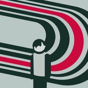 "Elliott Smith 'Figure 8' 12"" print"