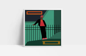 "LL Cool J  'BAD'  12"" print"