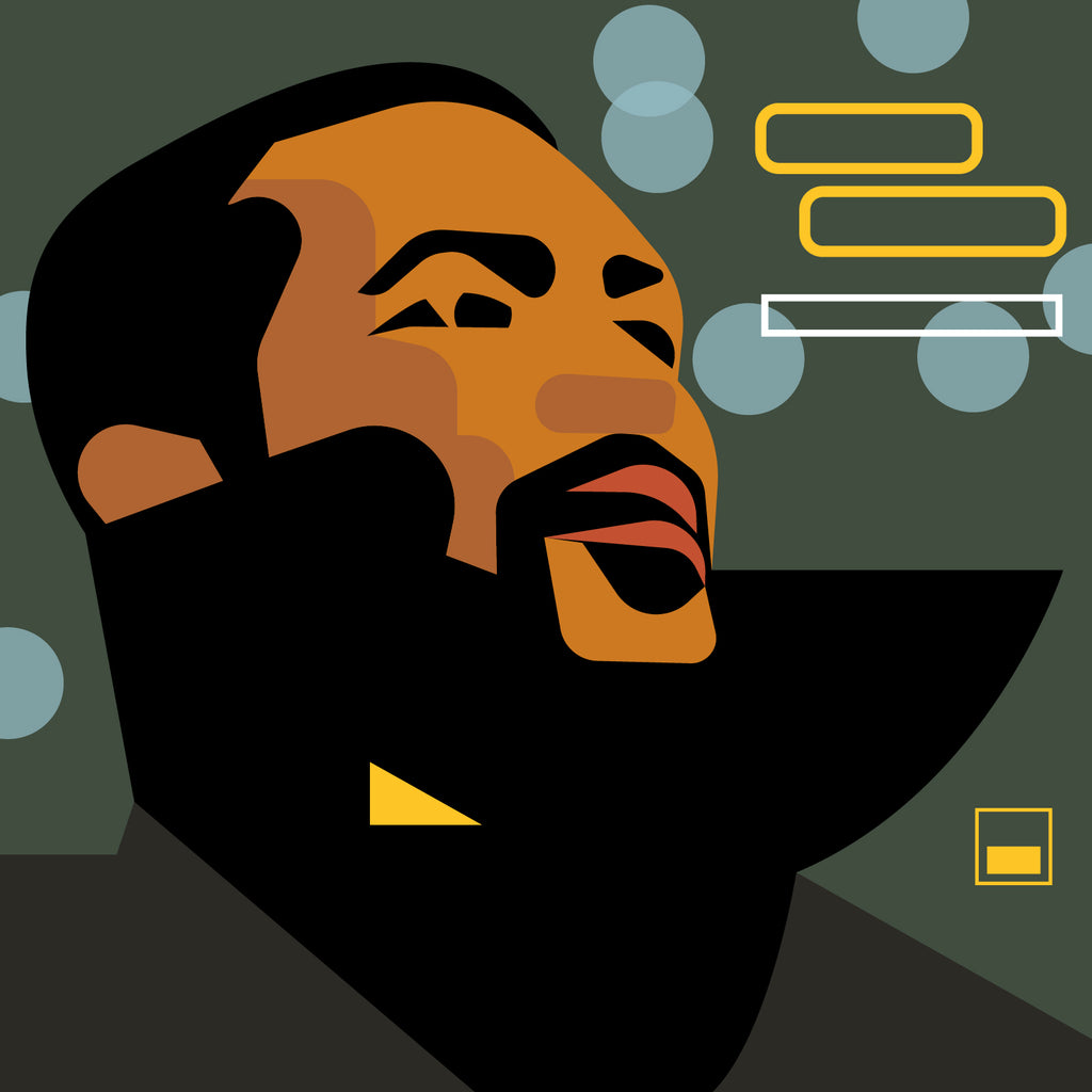 "Marvin Gaye  'What's Going On'  12"" print"
