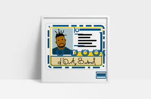 "Ol' Dirty Bastard  'Return to the 36 Chambers'  12"" print"