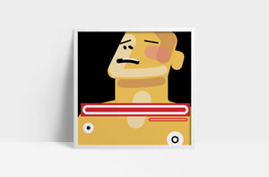 "Radiohead  'The Bends'  12"" print"