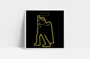 "T-Rex 'Electric Warrior'  12"" print"