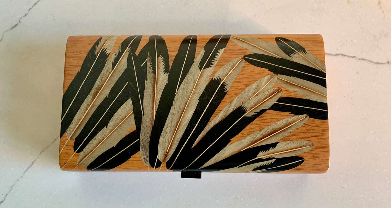 Marquetry Inlaid Boxes - Small - Blonde with Black