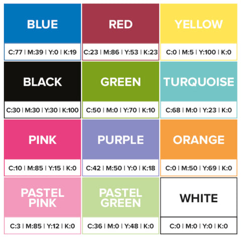 Triplex Cards Colour Pallet