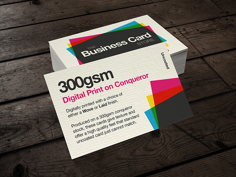 300gsm digital print conqueror card the business card store 300gsm digital print conqueror card reheart Images