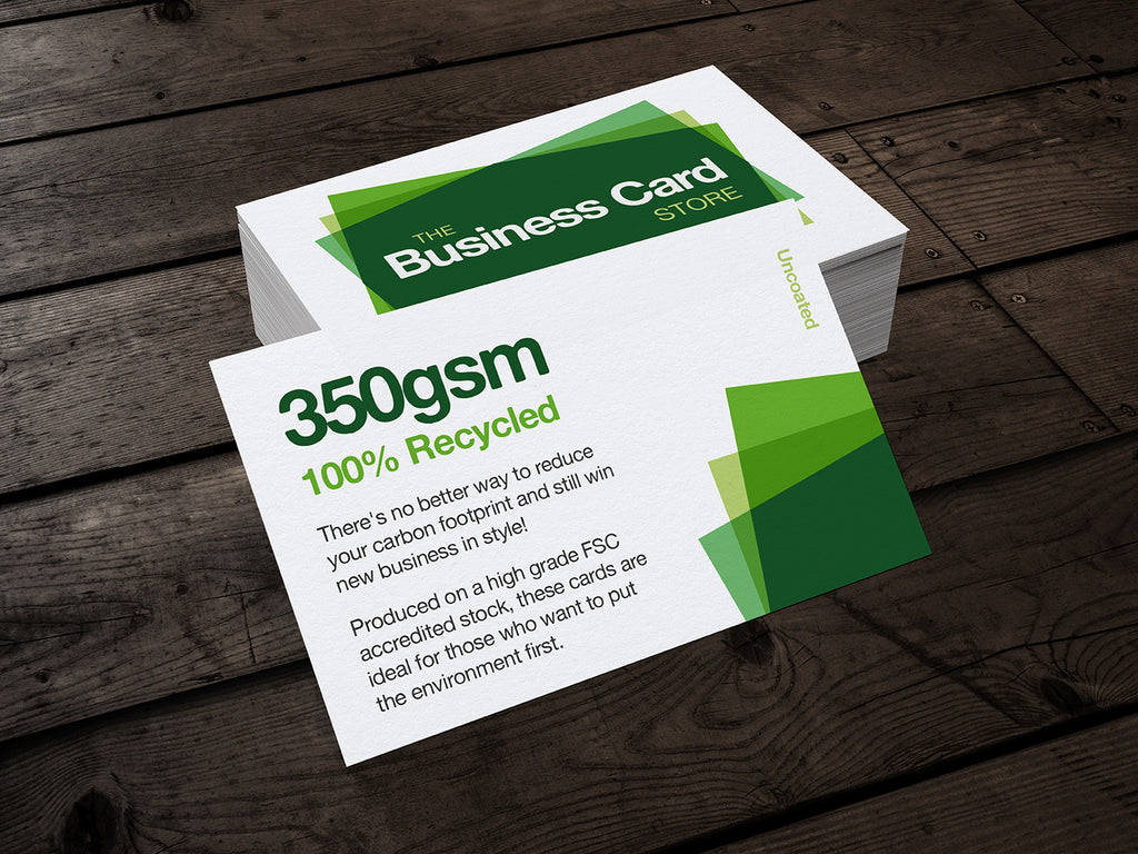 350gsm Recycled Business Cards | The Business Card Store | Bristol ...