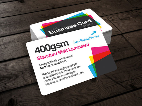 400gsm Matt Laminated (Shaped)