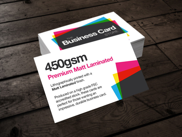 2000 Matt Laminated 450gsm thick Business Cards FREE Delivery