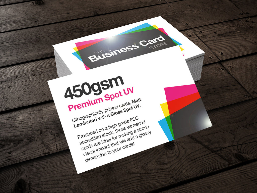 450gsm spot uv varnished the business card store bristol based 450gsm spot uv business cards colourmoves