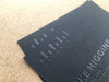 Black Foil on Ebony Colorplan Card