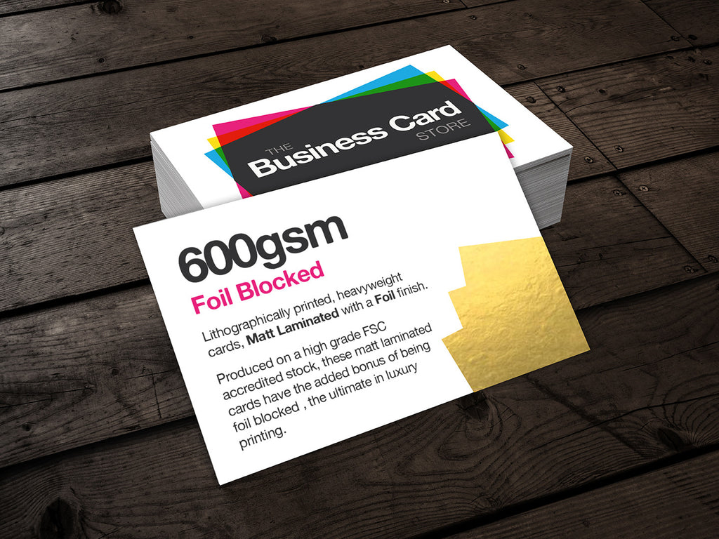 600gsm foil blocked the business card store bristol based 600gsm foil blocked colourmoves