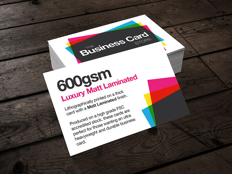 600gsm luxury matt laminated the business card store bristol 600gsm luxury matt laminated the business card store bristol based business card printing reheart Images