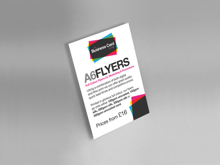 A6 flyers the business card store bristol based business card customer reviews reheart Gallery