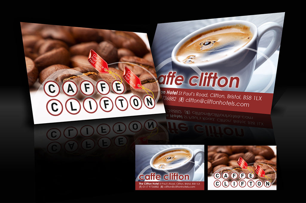 Graphic design services the business card store bristol based business card design cafe clifton reheart Image collections