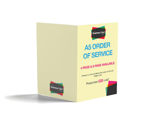 Order of Service Printing