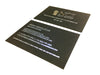Silver Foil Blocked Business Cards