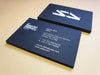 White Foil Business Cards