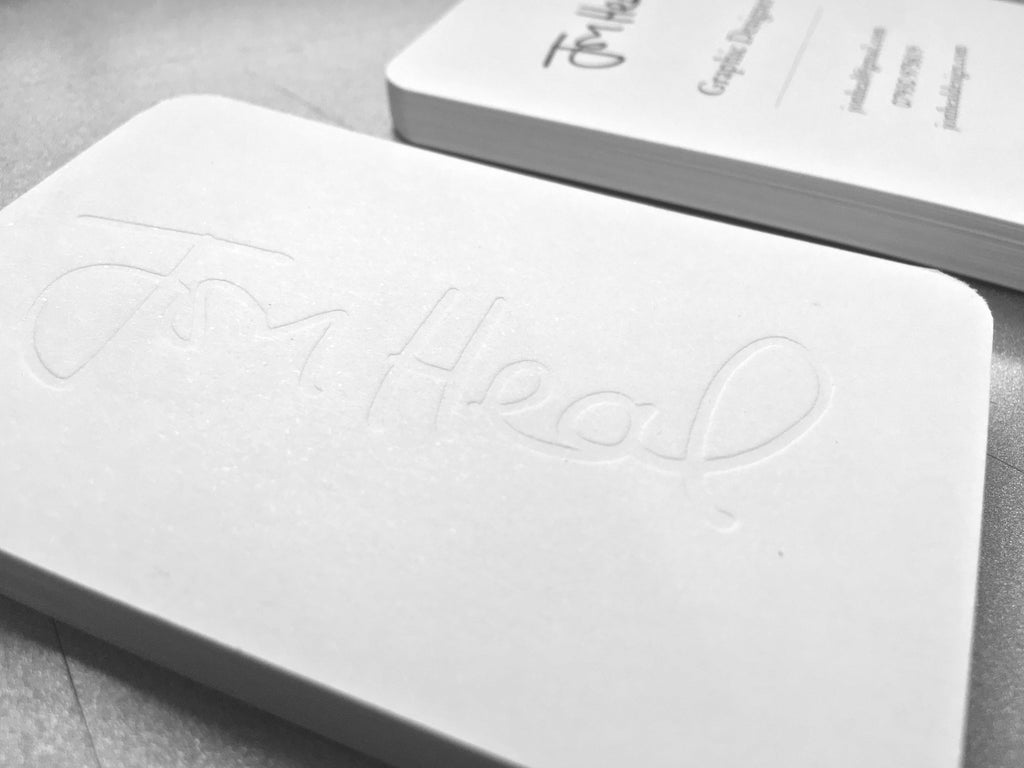 Embossed and Debossed Business Cards | The Business Card Store ...