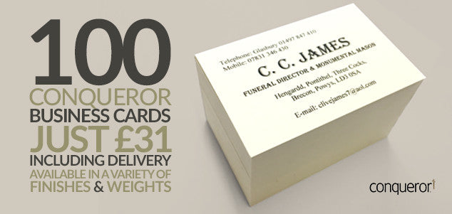Bespoke business card design and high quality printing service conqueror business cards reheart Image collections