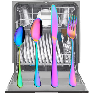 24PCS  Neowam - Rainbow Silverware Set