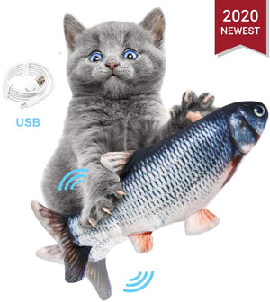 3D Simulation Electric Fish Cat Toy