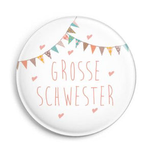 "Button ""Grosse Schwester"", matt"