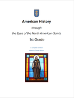 1st Grade History Through Saints Workbook