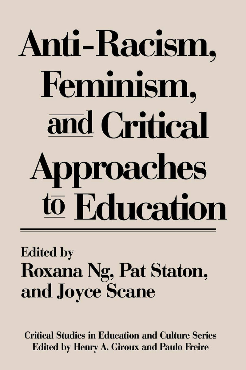Anti-Racism Feminism & Critical Approaches
