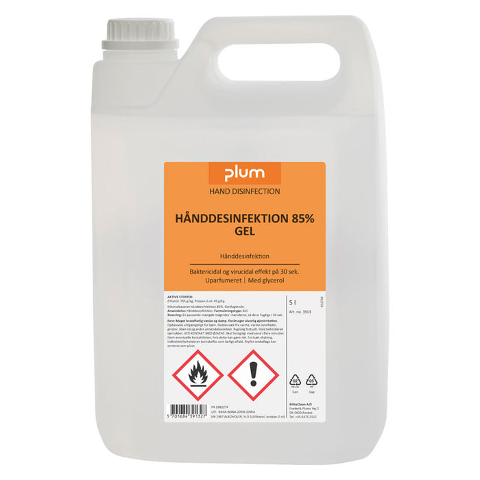 Plum hånddesinfektion 5 liters dunk, gel 85%