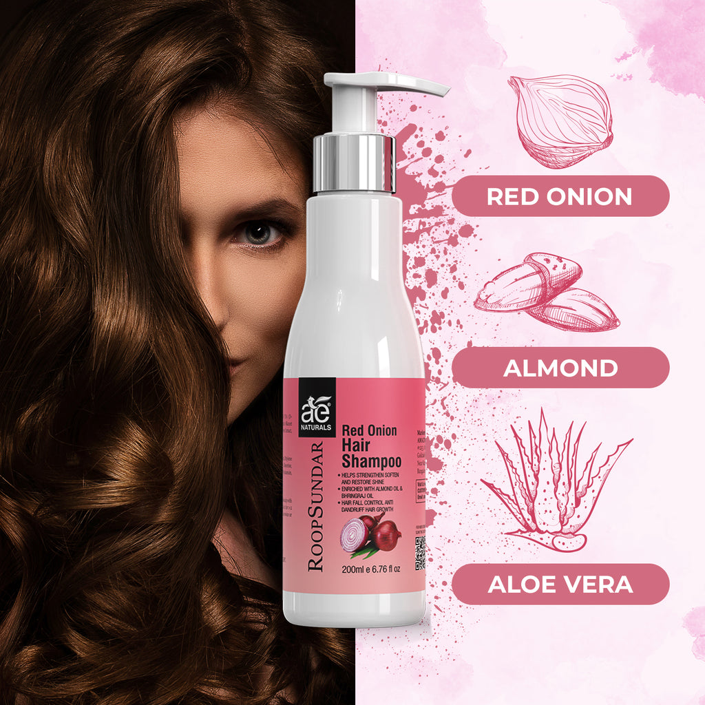 AE Naturals Roop Sundar Red Onion Hair Shampoo 200ml