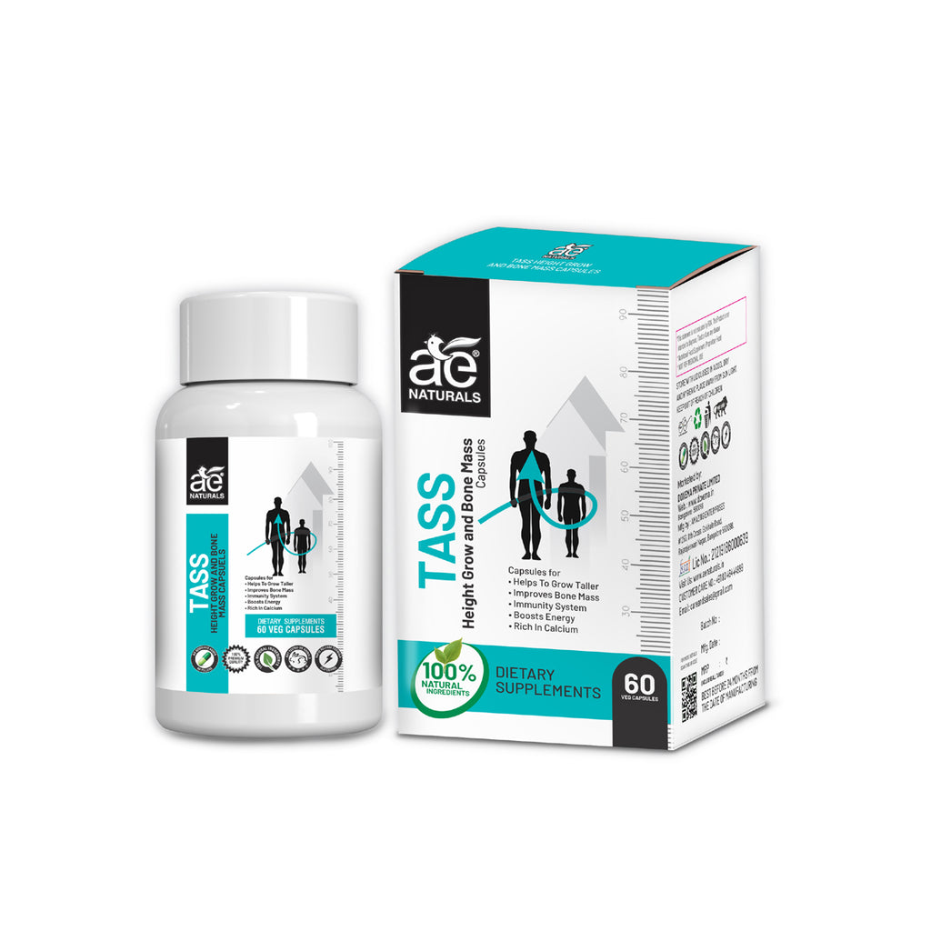 AE Naturals TASS Height Grow And Bone Mass Capsules 60 Caps