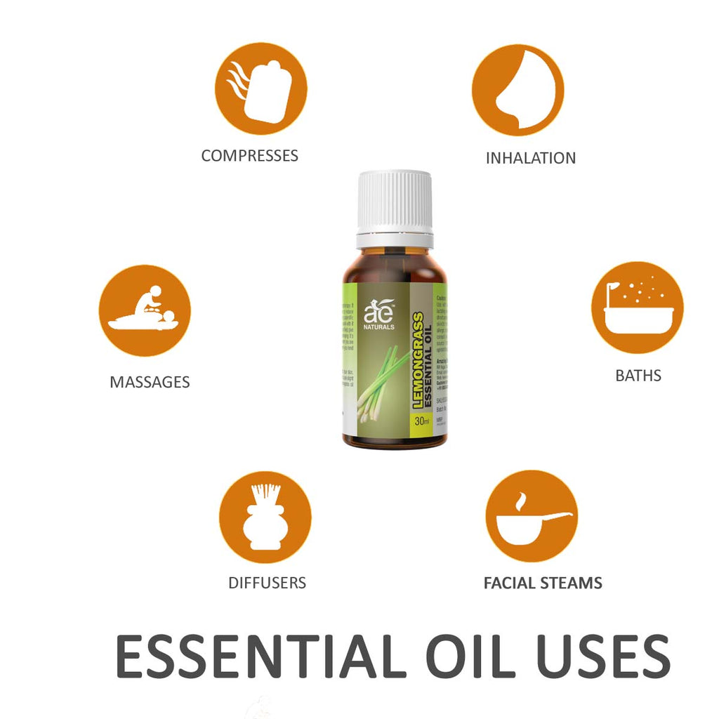 AE Naturals Lemongrass Essential Oil Premium Quality 30ml