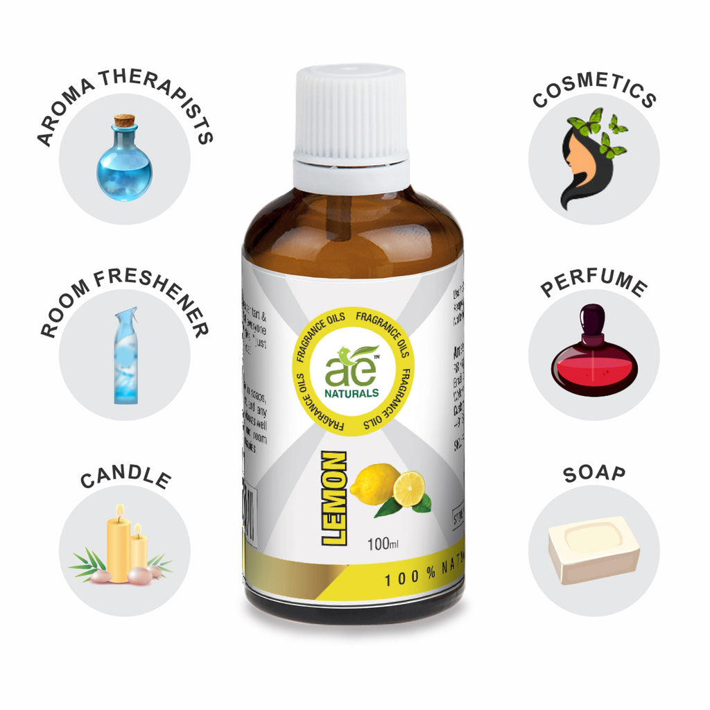 AE Naturals Lemon Fragrance Oil For Hand Made Soaps & cosmetics  100ml