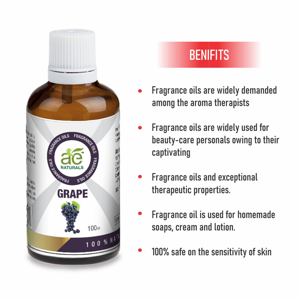 AE Naturals Grape Fragrance Oil For Hand Made Soaps & cosmetics 100ml