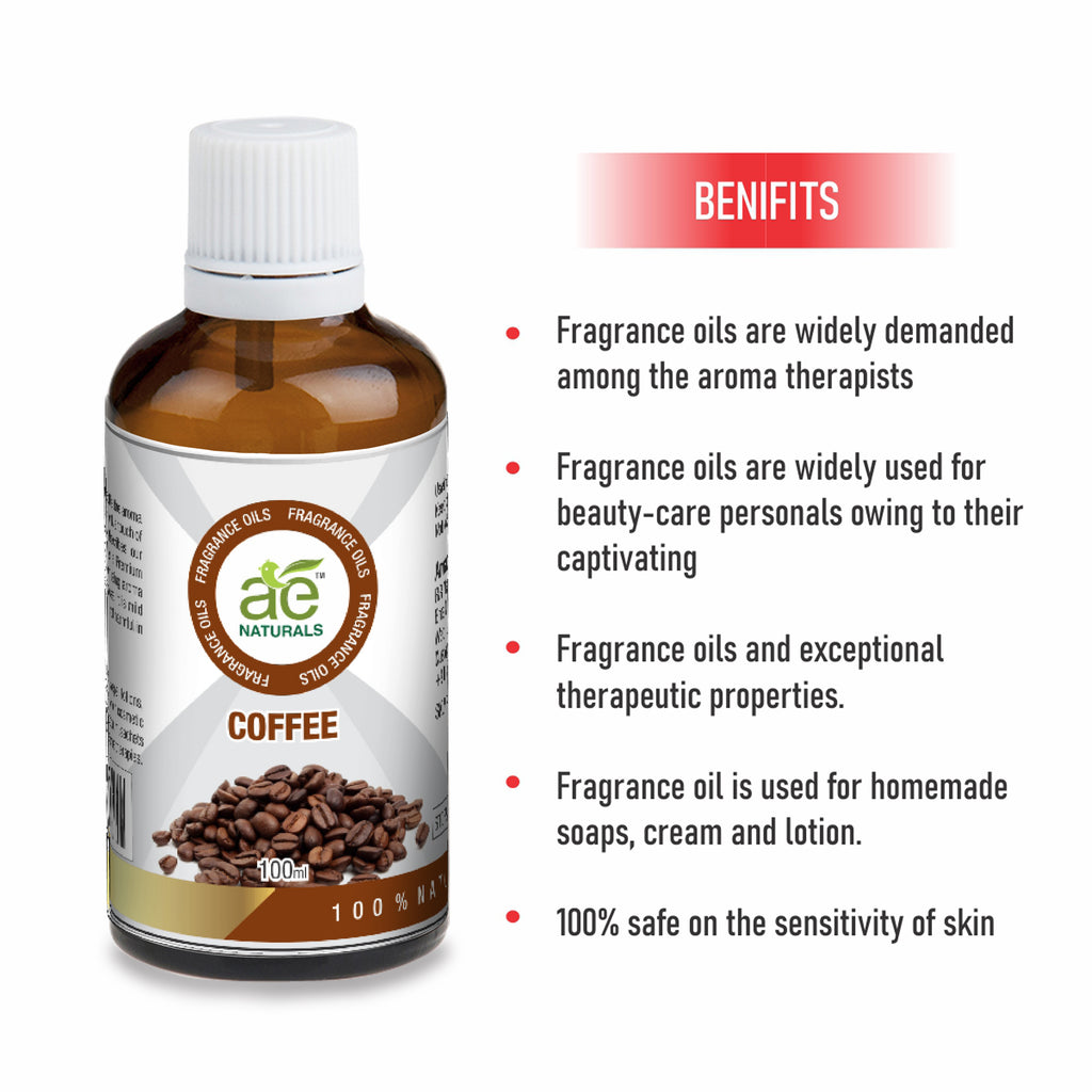 AE Naturals Coffee Fragrance Oil For Hand Made Soaps & cosmetics 100ml