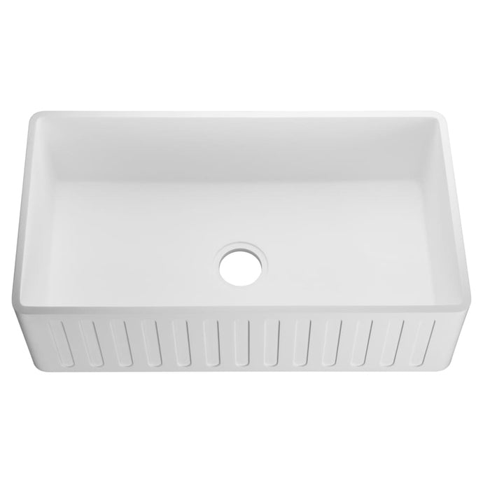 Farmhouse Sink Anzzi K-AZ226-1A ANZZI Roine 36 Reversible
