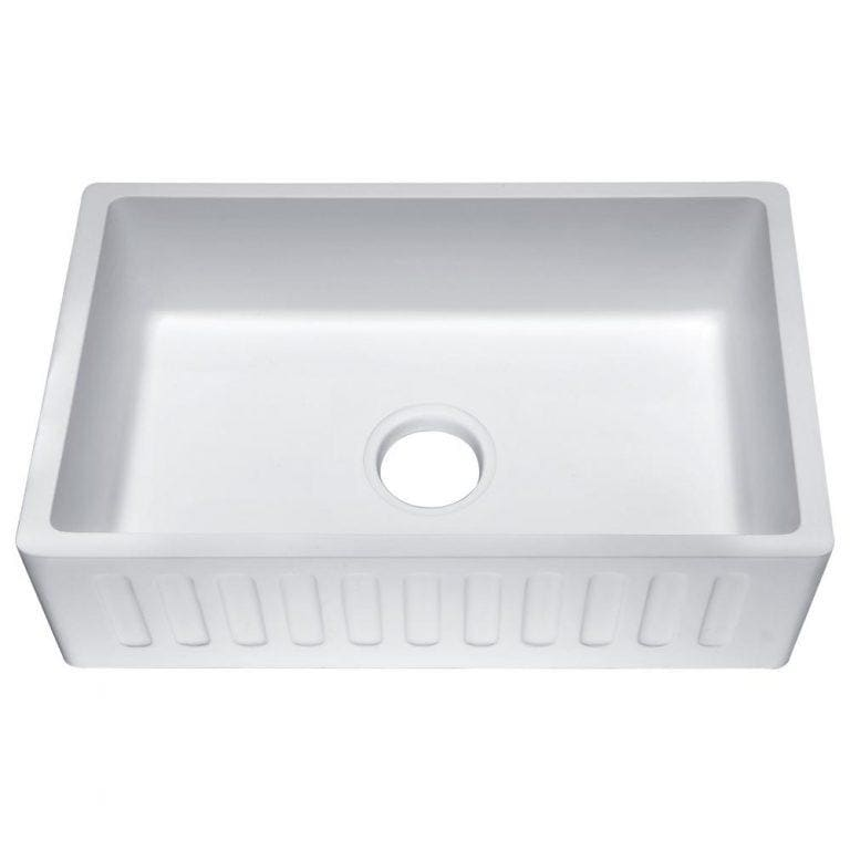 Farmhouse Sink Anzzi K-AZ227-1A ANZZI Roine 33 Reversible