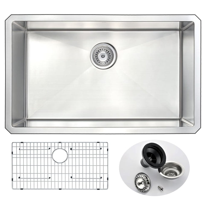 Farmhouse Sink Anzzi K-AZ3018-1A 30 in. Vanguard Undermount