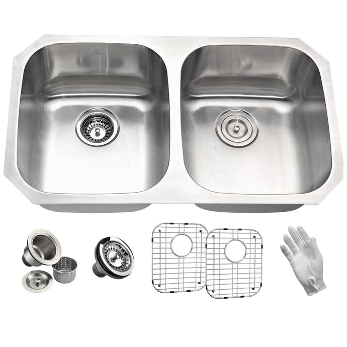 Farmhouse Sink Anzzi K-AZ3218-2B Moore 32 in. Undermount