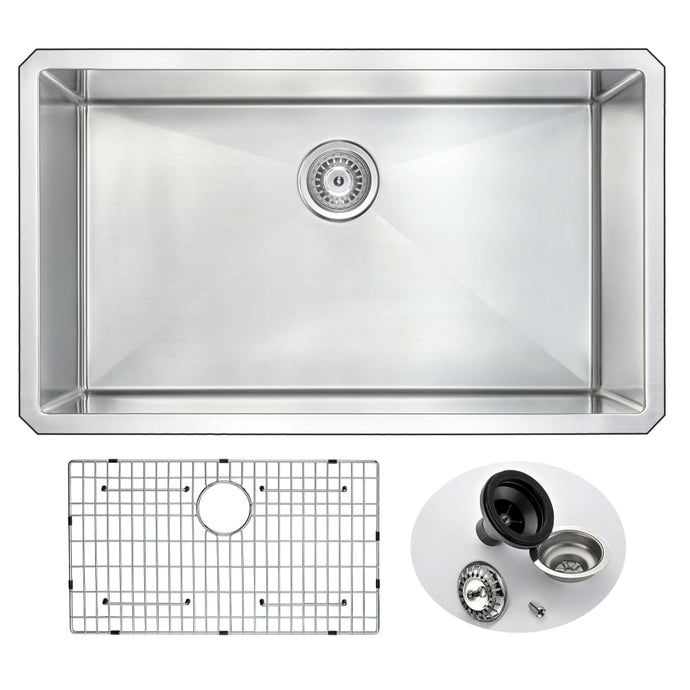Farmhouse Sink Anzzi K-AZ3219-1A ANZZI Vanguard 32 In